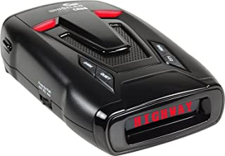Whistler CR85 High Performance Laser Radar Detector: 360 Degree Protection and Voice Alerts - Black
