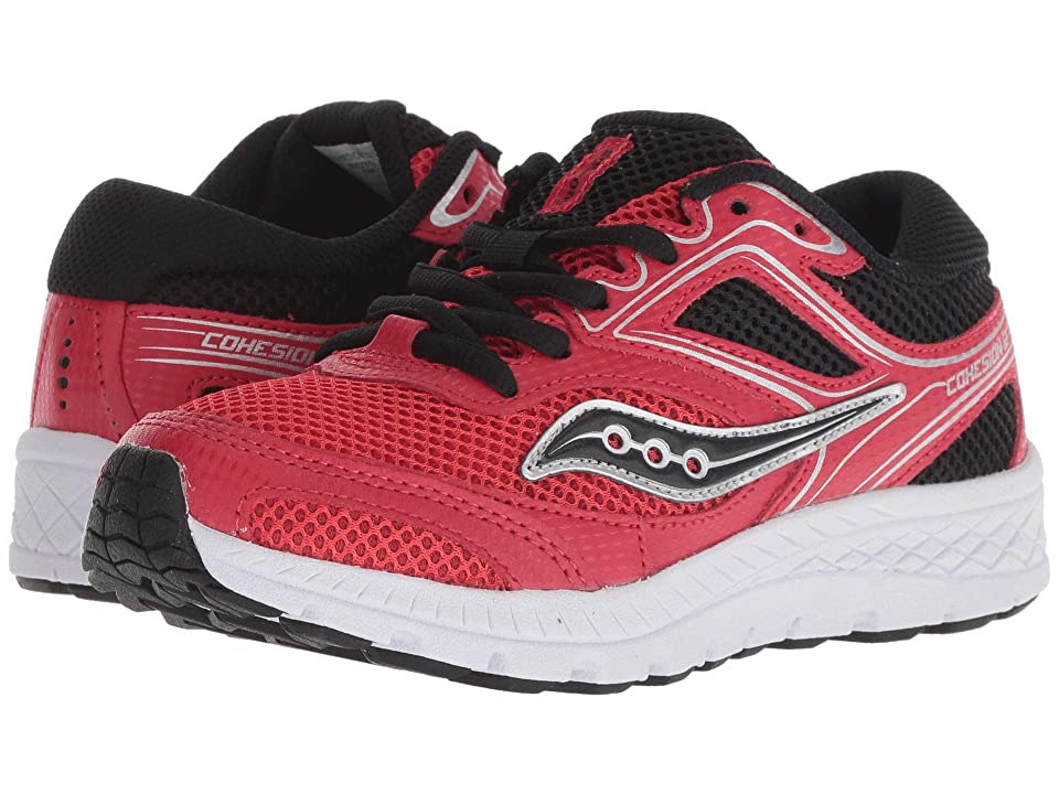 Saucony Kids Cohesion 12 LTT (Little Kid/Big Kid) (Red/Black) Boys Shoes