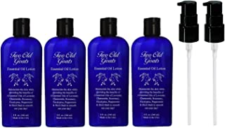 Two Old Goats Essential Oil Lotion, 8 Fluid Ounce, Pack of 4