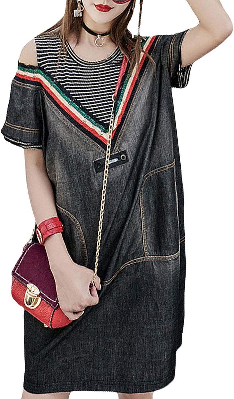 Punk Sexy Girls Vintage Streetwear Womens Denim Tank Dress Woman V Neck Mini Dressess