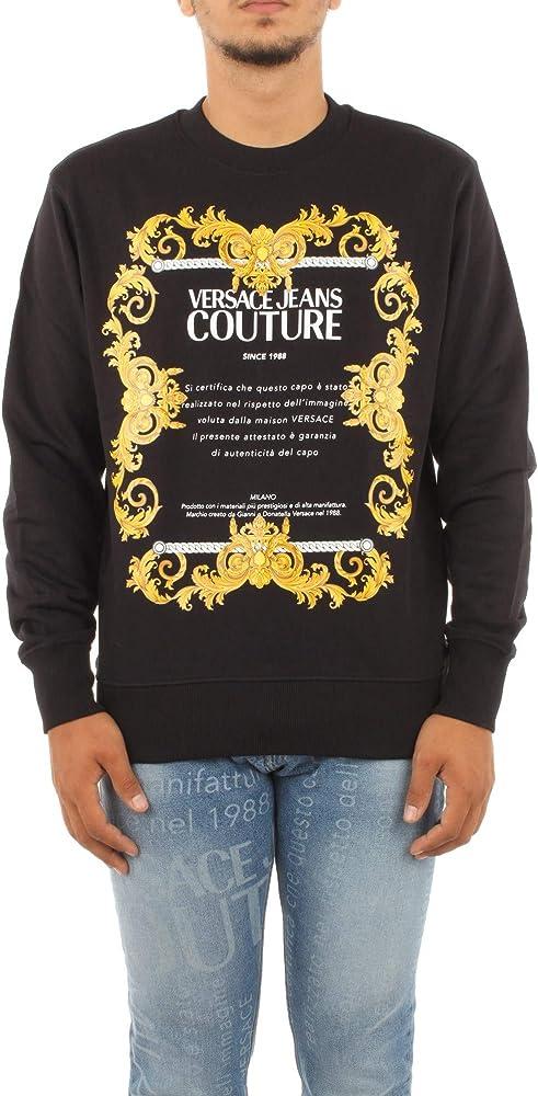 Versace jeans couture felpa uomo in cotone B7GZA7TT30318