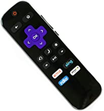 Remote Control for HITACHI/ TCL/ PHILIPS/ HAIER/ LG/ RCA/ ELEMENT/ SANYO Roku TV; Infrared Remote w/ Volume Control and TV Power Buttons