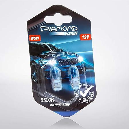 W5w Standlicht Xenon Look Optik Weiß Blau Birnen Lampen T10 Glassockel Parklicht Blue Vision Kennzeichenbeleuchtung White Vision Glühlampen Glühbirnen Auto