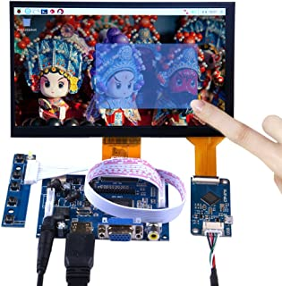 GeeekPi 7 inch 1024x600 Capacitive Touch Screen LCD Display HDMI Monitor DIY Kit for Raspberry Pi/Beagle Bone Black/PC/Mac...