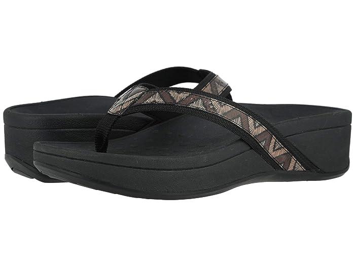 VIONIC  High Tide (Black Chevron) Womens Sandals