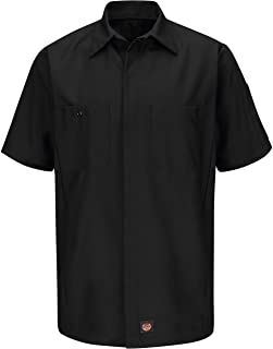 Red Kap Men's Ripstop Crew Shirt, Short Sleeve