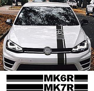 PT-Decors Emblema per Auto TSI Rosso Argento 3D Lettera Simbolo Distintivo Adesivo per Auto parafanghi Laterali Auto paraurti Bagagliaio Bagagliaio Esterno Decalcomania Colore 1