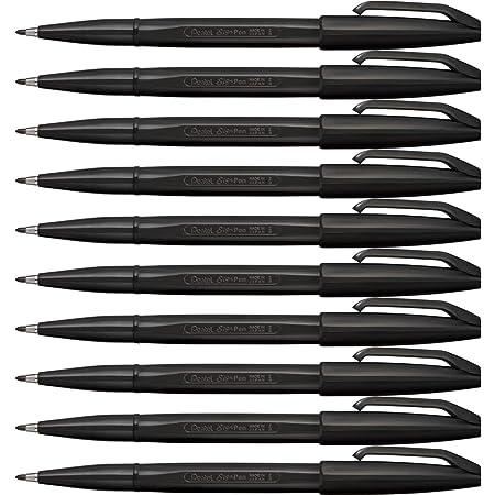 ぺんてる 水性ペン サインペン S520-AD 黒 10本セット