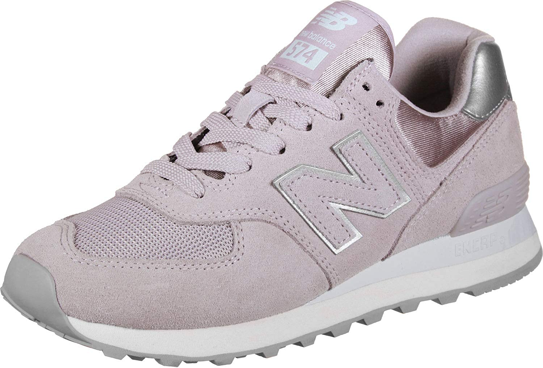 New Balance Woman 574 Sneakers Metallic Silver Light Rose