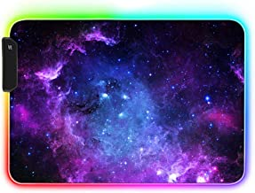 AILRINNI RGB Tapis de Souris Gaming - 350x250mm Grand Tapis de Souris XL, 12 Modes LED Lumineuse Tapis de Souris, Surface ...
