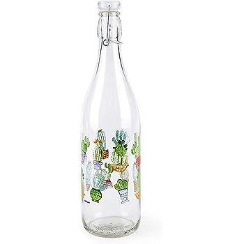8x8x32 cm Multicolore Excelsa Chic /& Choc Bottiglia 1 Litro