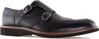 Andres Machado - Chaussures pour Hommes Style Monk en Cuir - 6314 - Fermeture par Boucle - Intérieur en Cuir - Made in Spa...