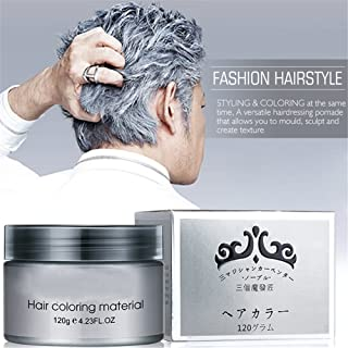 Harajuku Style Styling Products Hair Color Wax Dye One-time Molding Paste Seven Colors Hair Dye Wax Hair Dyes (Gray)