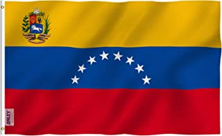 ANLEY Fly Breeze 3x5 Foot Venezuela 8 Stars Flag - Vivid Color and UV Fade Resistant - Canvas Header and Double Stitched - Bolivarian Republic of Venezuela Flags Polyester with Brass Grommets 3 X 5 Ft