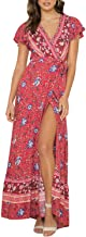 Best red printed wrap dress Reviews