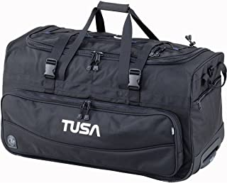 Dive Gear Roller Duffle Bag in Black