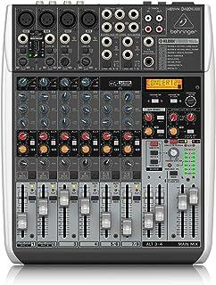 BEHRINGER QX1204USB Premium 12-Input 2/2-Bus Mixer with XENYX Mic Preamps & Compressors, Klark Teknik Multi-FX Processor, ...