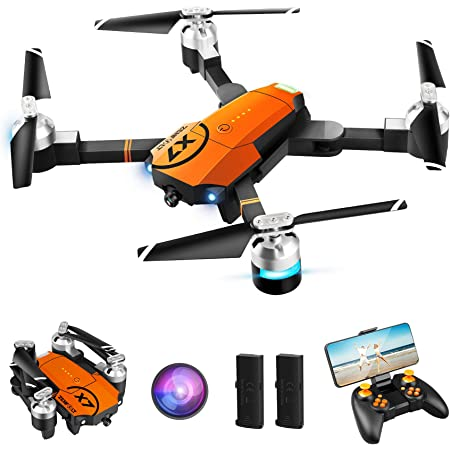 ZENFOLT Drone with Camera for Adults, WiFi 1080P HD Camera FPV Live Video, RC Quadcopter Kids Toys Gifts for Beginner with Gravity Sensor, Waypoints Functions, Headless Mode, One Key Take Off/Landing, Altitude hold