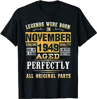 Vintage November 1949 70 Birthday Gift - 70 Years Old T-Shirt