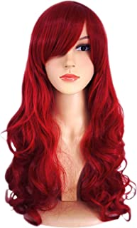 Sale AnotherMe Long Big Wavy Dark Wine Red Hair Women Heat Resistant Fibre Wig Party Cosplay