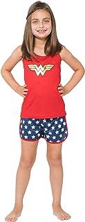 INTIMO Girls' Wonder Woman Sporty Mesh Pajama Set