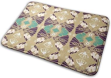 The Art of Butterflies Carpet Non-Slip Welcome Front Doormat Entryway Carpet Washable Outdoor Indoor Mat Room Rug 15.7 X 23.6