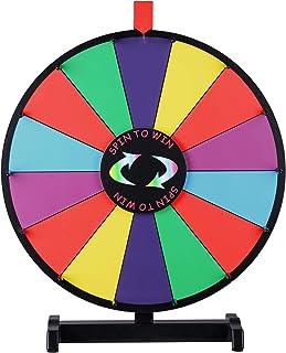 WinSpin ルーレット 18インチ 卓上ルーレット ルーレットホイール 回転 罰ゲーム 抽選 パーティゲーム ルーレットゲーム 抽選会 回転抽選 イベント用 子供 色/数字を学ぶ用