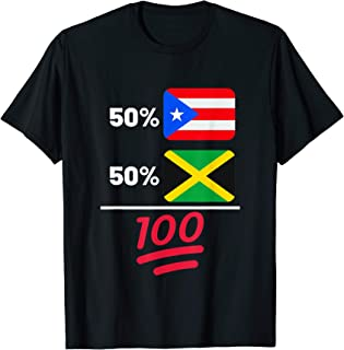 Jamaican Plus Puerto Rican Flag Heritage Gift T-Shirt