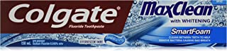 Colgate MaxClean Smart Foam Whitening Toothpaste, Effervescent Mint, 150 mL