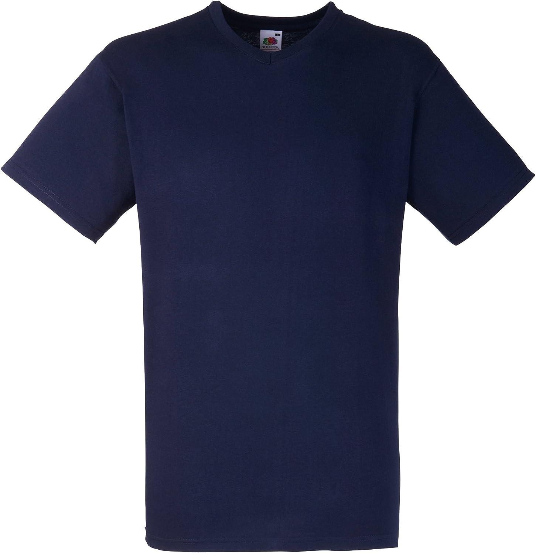 Fruit Of The Loom - Camiseta para hombre, manga corta, cuello de pico