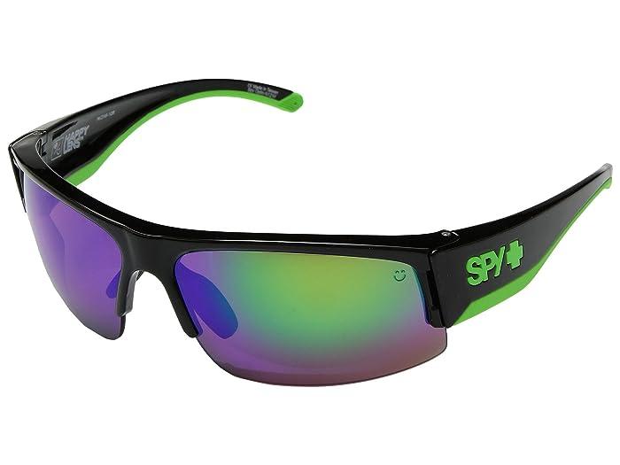 Spy Optic Flyer (Green/Happy Bronze w/ Green Spectra) Fashion Sunglasses