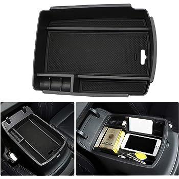 Accessorio Auto vano portaoggetti Console Storage Box Inserto Vassoio Bianca RUIYA Central Console Box bracciolo su Misura per 2014-2018 Rogue X-Trail T32