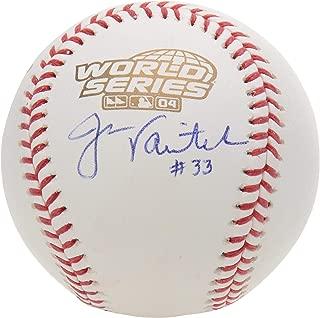 Jason Varitek Boston Red Sox Autographed 2004 World Series Logo Baseball - Fanatics Authentic Certified