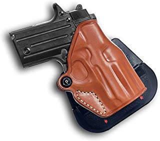 Premium Leather OWB Paddle Holster with Open Top Fits, Kahr P380 Without Laser, Right Hand Draw, Brown Color #1029#