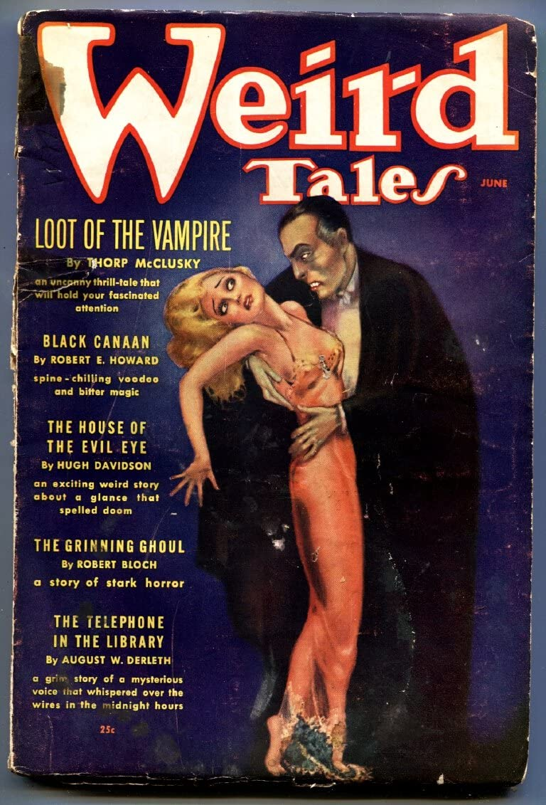 Weird Tales-6 Free shipping on posting reviews 1936-pulp fiction-spicy Art-Brundage-Der Good Import Girl
