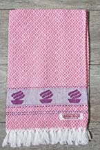 Indras 100 % Cotton Hand Towel, 15x 24-inch, Pink