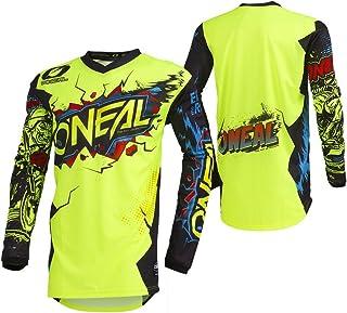 O'Neal Element Villain Motocross Kinder Jersey MTB Mountain Bike Trikot Enduro MX FR DH Kids, 002E-9-Youth, Farbe Neon Gelb, Größe L