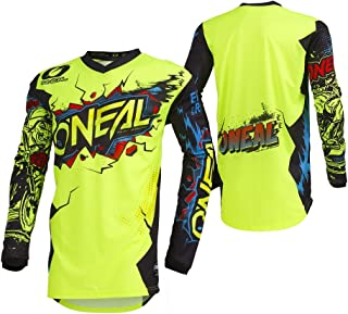 O'Neal Unisex-Child Youth Element Jersey (VILLAIN) (Neon Yellow, Small)