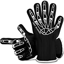 """Heat Guardian Heat Resistant Gloves – Protective Gloves Withstand Heat Up To 932℉ – Use As Oven Mitts, Pot Holders, Heat Resistant Gloves for Grilling – Features 5"""" Cuff for Forearm Protection"""