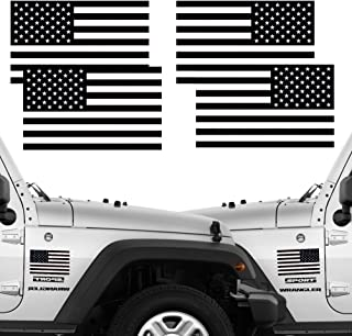 CREATRILL Reflective Subdued American Flag Stickers 2 Pairs Bundle 3