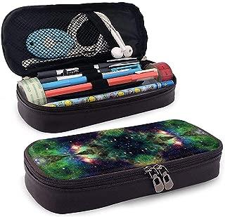 Lápiz de cuero/Estuche para lápices Bolsa de cosméticos Secretario Trippy Space Gran capacidad Soporte para bolsa Organizador de papelería para escuela/oficina
