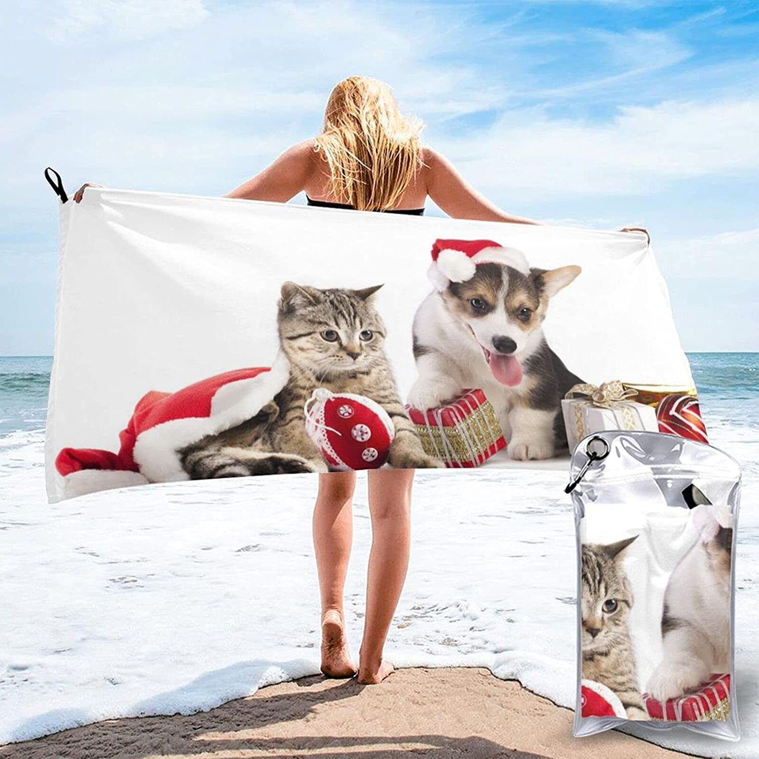 Mescchsk Dog and Cat Free shipping Print Quick Dry Pack 5527.5 Shipping included Size i 2 Towel