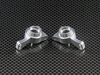 Team Losi Mini 8ight & 8ight-T Upgrade Parts Aluminum Rear Knuckle Arm - 1Pr Set Silver