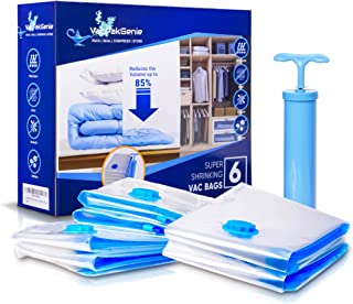 Vacpakgenie Space Saver Bag Vacuum Storage Bags, Compression Bag, Vacuum Seal Bag with Suction Pump Reusable Waterproof Tr...