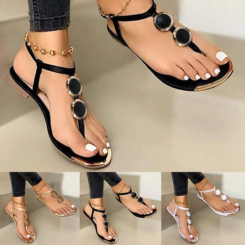 UOCUFY Sandals for Women Dressy Summer,Women's 2021 Comfy Casual Platform Sandal Shoes Summer Beach Travel Slipper Flip Flops