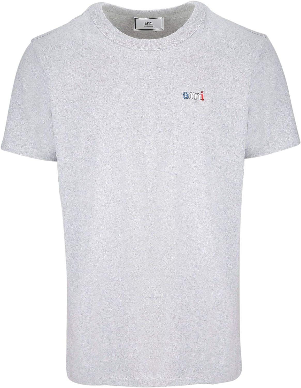 AMI ALEXANDRE MATTIUSSI Men's E19J100720055 Grey Cotton TShirt