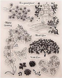 Fogun Fleur Tampons Clairs Transparents Scrapbooking Stamp En Silicone Pour DIY Loisirs Créatifs Décoration Cadeau Noel En...