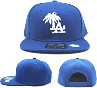 Headlines Los Angeles New Leader Custom LA Palm Blue White Era Snapback Hat Cap