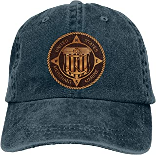 Merchant Marine Bronze Denim Hats Baseball Cap Dad Hat