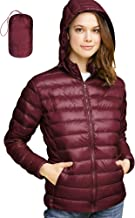 Lock and Love Women's Ultra Light Weight Packable Down Jacket with Removable Hoodie